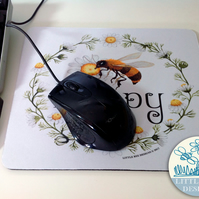 Bee Mouse mat,  IT Gift, Home Office Gift, Computer Mousepad,