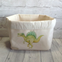 Dinosaur Fabric Toy Storage Bin