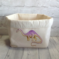 Dinosaur Canvas Fabric Storage Box