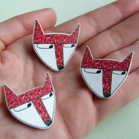 Fox - Small Illustrated Badge