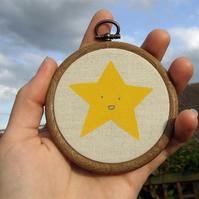 Mr Star - Framed Textile Screenprint