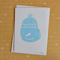 Snowman - Screen-printed Christmas & Holiday Card
