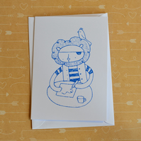 Pirate Lion - Screen-printed Card