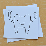 Tooth - Small Hand Screen Printed Card