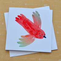 Parrot - Small Hand Screen Printed Card
