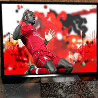 Sadio Man - Liverpool - Original Artwork - Football Print