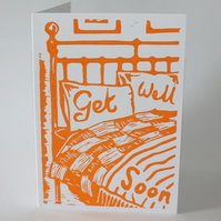 Get Well card (Linocut)