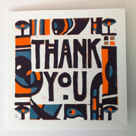 Thank You card (Linocut)
