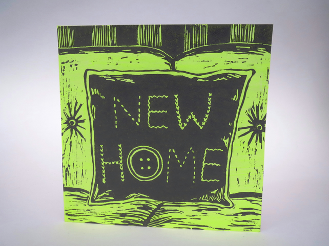 New Home card (Linocut)