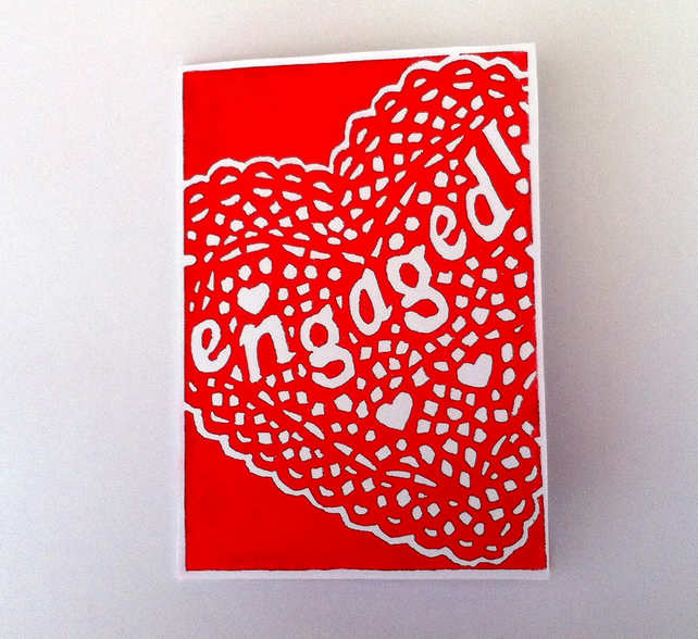 Engagement card (Linocut)