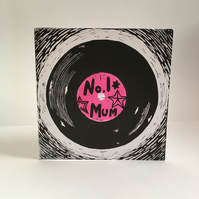 Record (vinyl) Mother's Day Card