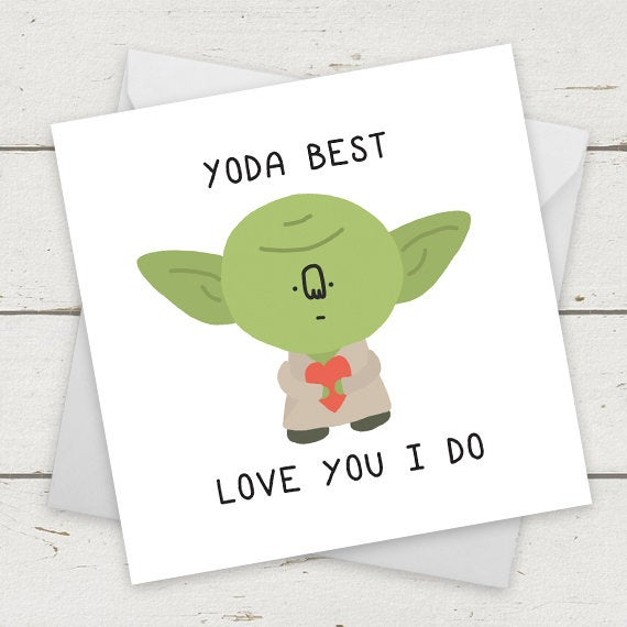 Fathers Day Cards Funny Star Wars Yoda Best Love You I Do Fathers Day Gift