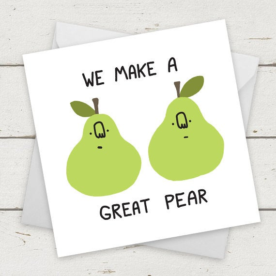 Superb Funny Cards We Make A Great Pear Folksy Personalised Birthday Cards Paralily Jamesorg