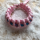 Paracord rosary bracelet - Strawberry pink and sky blue camo