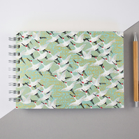 B6 'Green Hokaido' Japanese Silkscreened Notebook Filled With Eco Friendly Paper