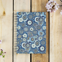 Dark Blue Abstract Customisable Journal With Choice Of Paper