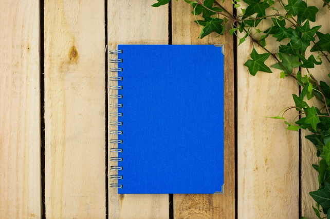 Blue Plain A5 Notebook, Gift For Sketchers