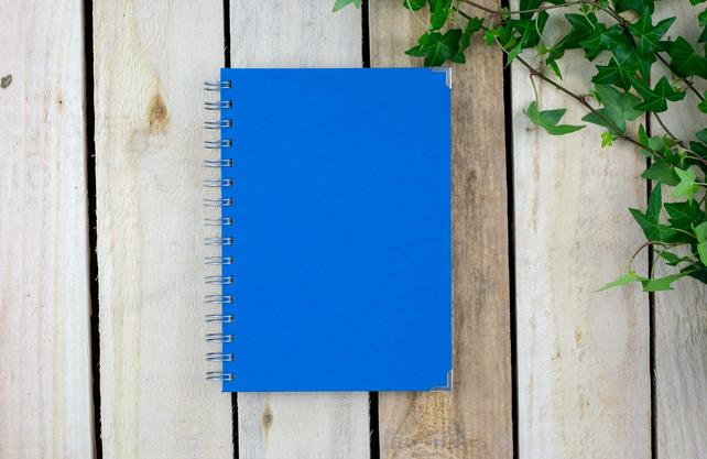 A5 Blue Handmade Sketchbook With Plain Eco Friendly Paper