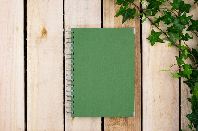 A5 Green Ringbound Notebook