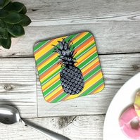 Hand Sketched Pineapple Coaster