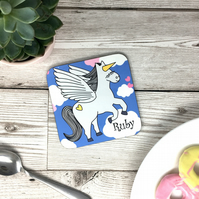 Pegasus Coaster Personalised