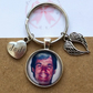 Custom picture keyring, dad photo keyring, picture keyring, custom picture