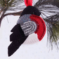Red robin hanging decor, accessories, home and living, bead embroidery robin, ro