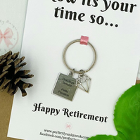 Retirement gift, gift for retirement, retirement keyring, goodbye tension