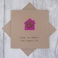 New Home Card, Housewarming Card, Moving House Card, First Home Card,