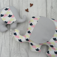 Stuffed Elephant Toy, Nursery Decor, Baby Shower Gift, Animal Toy, Baby Gift