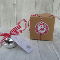 Personalised Believe Bell, Christmas Eve Box, Personalised Christmas Jingle Bell