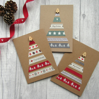 Christmas Tree Card, Holiday Card, Xmas Card, Festive Card, Seasons Greetings,