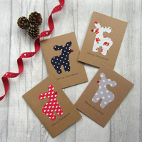 Christmas Card, Holiday Card, Reindeer Card, Rudolf Card, Xmas Card