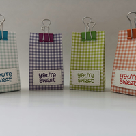 Mini Gift Bag - Super Cute - Gingham - You're Sweet