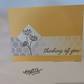 Handmade - Thinking of You card - Yellow - Floral