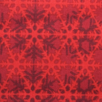 Red lattice fabric, Celestial Winter Fabric - price by the half metre