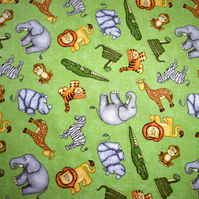 jungle buddies fabric, jungle animals, Price per half Metre