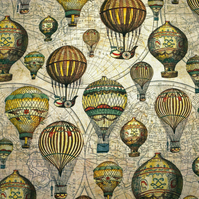 hot air balloon fabric, quilting fabric, price per half metre
