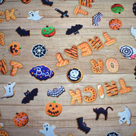 trick or treat fabric, Halloween fabric, spooky fabric, Price per half Metre