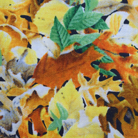 Leaves fabric, leaf fabric, Quilting fabric, cotton fabric, Price per half Metre