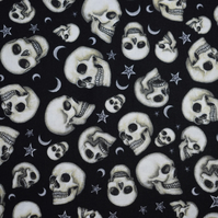 Skull fabric, moon fabric, start fabric, wizard fabric, price per half metre