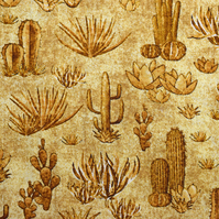 cactus fabric, desert fabric, native american fabric, Price per half Metre