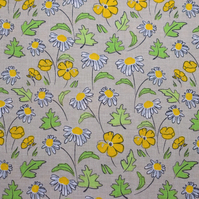 Buttercup and Daisy Fabric,  by Debbie Shore - Price per Half Metre