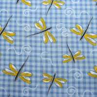 Dragonfly Fabric, A Cottage Garden by Debbie Shore - Price per Half Metre