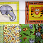 childrens animal fabric bundle, Quilting bundle, cotton fabric, jungle buddies