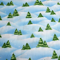 Christmas tree fabric, christmas fabric, Price by the half Metre