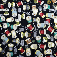 bobbin fabric, bobbin print , cotton fabric, Price by the half Metre