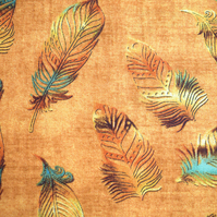 Feather Fabric, Quilting fabric, cotton fabric, Price per half Metre