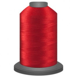 cardinal red thread, glide trilobal polyester no 40, Tex 27, sewing thread, quil