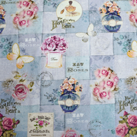 patchwork pattern fabric, quilting fabric, Price by the half metre